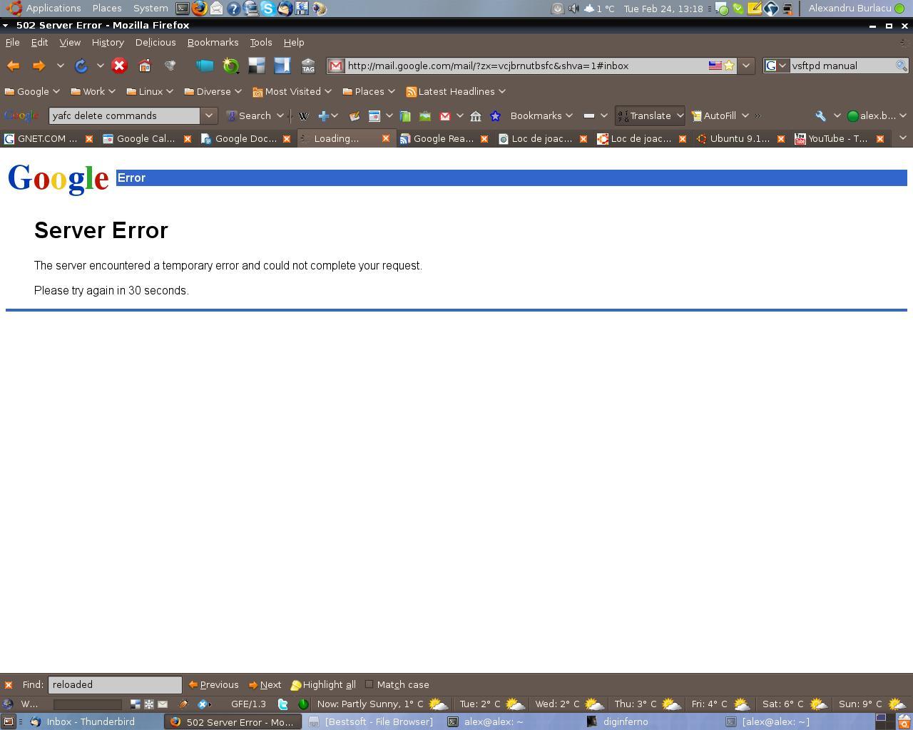 Eroare Gmail.com